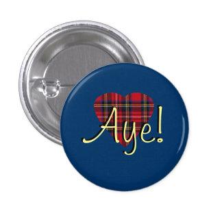 indyref Tartan Heart Yes Scotland Pinback Buttons