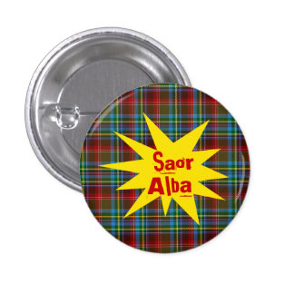 #indyref Tartan Punk Saor Alba Scotland Pinback Buttons