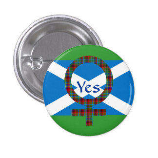 #indyref Women for Yes Scotland Pinback Button
