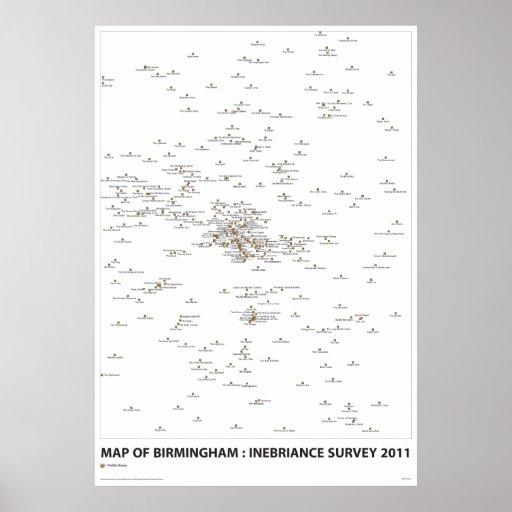 INEBRIANCE SURVEY Map Print