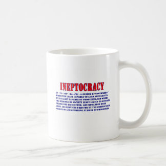 INEPTOCRACY DEFINITION COFFEE MUG