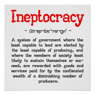 """Ineptocracy Definition Poster (24""""x24"""")"""