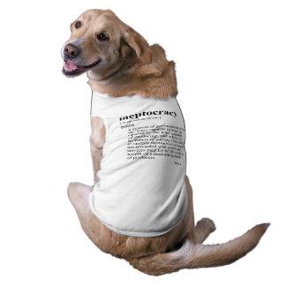 Ineptocracy Sleeveless Dog Shirt