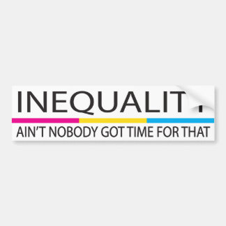 Inequality Ain't Nobody Got Time For Pansexual Bumper Sticker