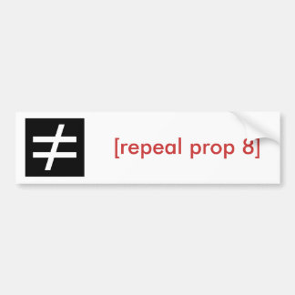 inequality/repeal prop 8 bumper sticker