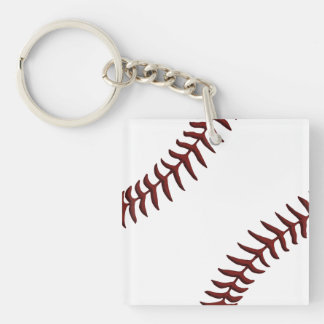 Inexpensive Baseball Gift Ideas for Boys Double-Sided Square Acrylic Key Ring
