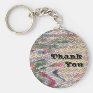 Inexpensive Unique Thank You Mosaic Color Tiles Key Ring