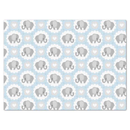 Infant Baby Boy Blue Elephant Shower Gift Tissue