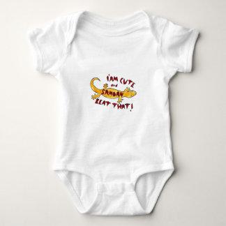 "infant creeper-""I am cute and Samoan, Beat that! "" Baby Bodysuit"