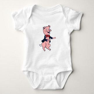 INFANT CREEPER TUXEDO PIG
