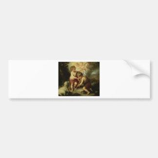 Infant Jesus and John the Baptist circa 1600's Bumper Sticker
