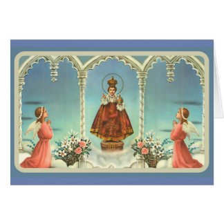 Infant Jesus of Prague Adoring Angels Card