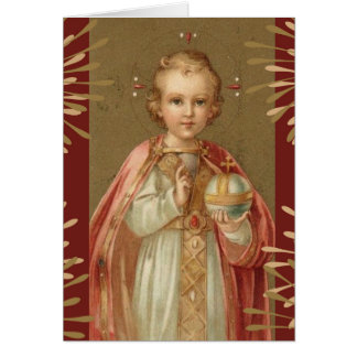 Infant Jesus of Prague Card