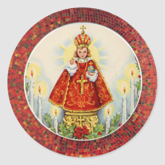 Infant Jesus of Prague Classic Round Sticker