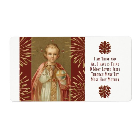 Infant Jesus of Prague Prayer