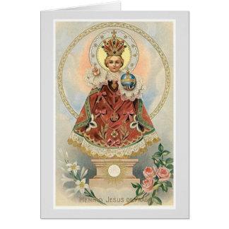 Infant Jesus of Prague Roses Card
