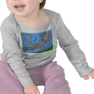Infant Long Sleeve White Octopus Shirts