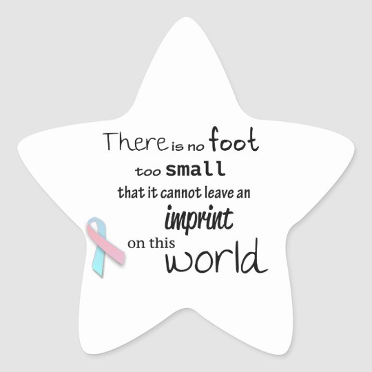 Infant loss awareness stickers