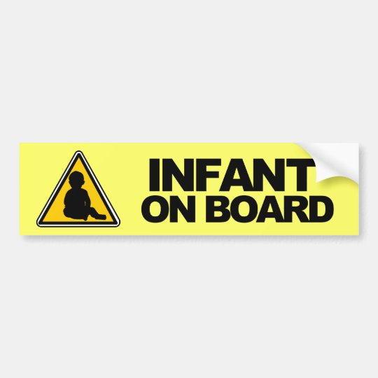 Infant on Board Bumper Sticker