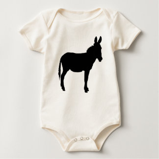 Infant organic cotton baby grow with donkey baby bodysuit