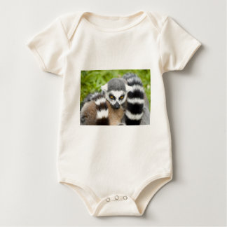 Infant Organic Creeper - Cute Lemur Stripey Tail