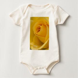 Infant Organic Creeper - Yellow Rose with Raindrop