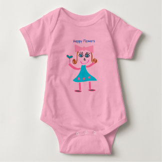 Infant Short Sleeves) - Happy Flowers Baby Bodysuit