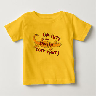 """Infant T- """"I am cute and Samoan, Beat that! Baby T-Shirt"""