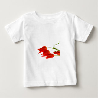 Infant toddler t-shirt with red tulips