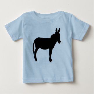 Infant tshirt with donkey in various colours