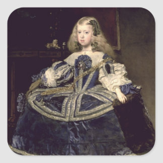Infanta Margarita  in Blue, 1659 Square Sticker