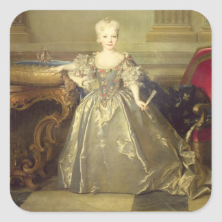 Infanta Maria Ana Victoria de Borbón, 1724 (oil on Square Sticker