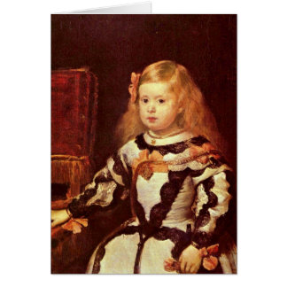 Infanta Maria Margarita By Diego Velazquez Card