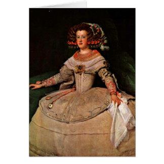 Infanta Maria Teresa By Diego Velazquez Greeting Card
