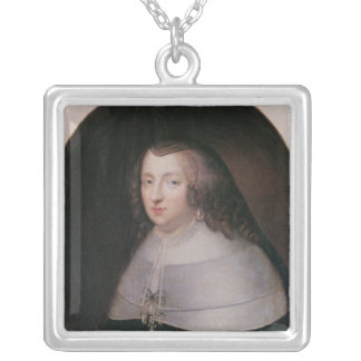 Infanta of Spain and Queen of France Silver Plated Necklace
