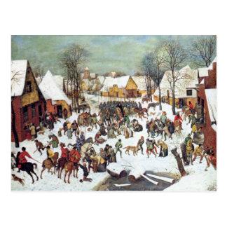 Infanticide in Bethlehem by Pieter Bruegel Postcard