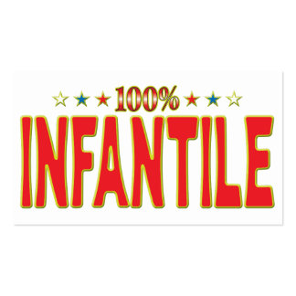 Infantile Star Tag Business Card Template
