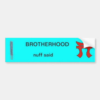 Infantry Brotherhood Bumper Sticker with Rakkasan