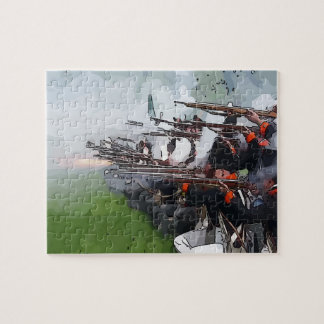 Infantry Firing Muskets Jigsaw Puzzle