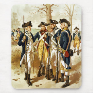 Infantry Of The Revolutionary War Mouse Mat