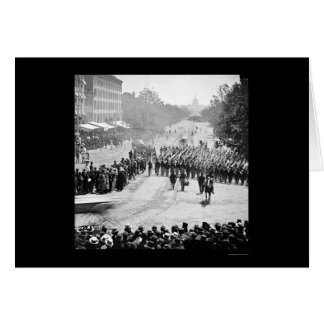 Infantry Parade on Pennsylvania Avenue 1865 Greeting Card