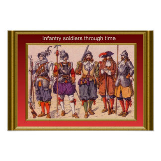 Infantry through the ages 15 poster