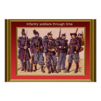 Infantry through the ages 4 posters