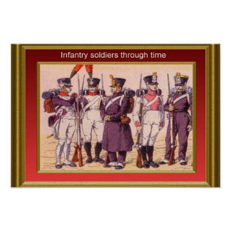 Infantry through the ages 5 poster