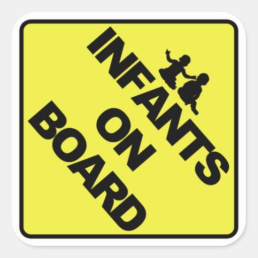 Infants on board sticker