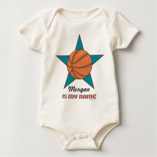 Infant's Personalized Basketball Star Baby Bodysuit