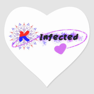 Infected by Korea Heart Sticker