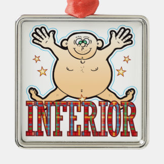 Inferior Fat Man Christmas Ornament