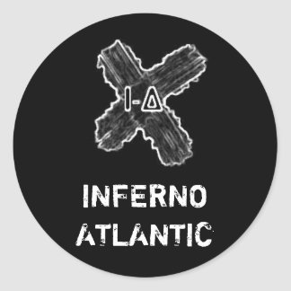 Inferno Atlantic Cross Sticker