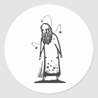 Infested Man Classic Round Sticker